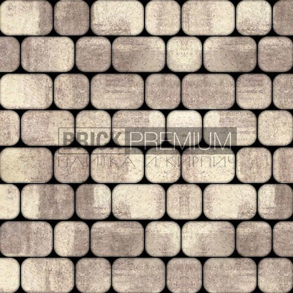 Тротуарная плитка Brick Premium Рундстоун Алькантара 45 мм