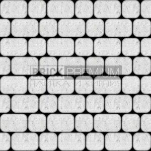 Тротуарная плитка Brick Premium Рундстоун Белый 45 мм
