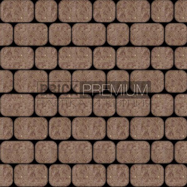 Тротуарная плитка Brick Premium Рундстоун Коричневый 45 мм
