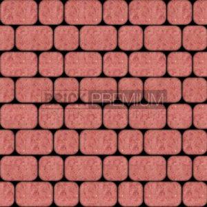 Тротуарная плитка Brick Premium Рундстоун Красный 45 мм