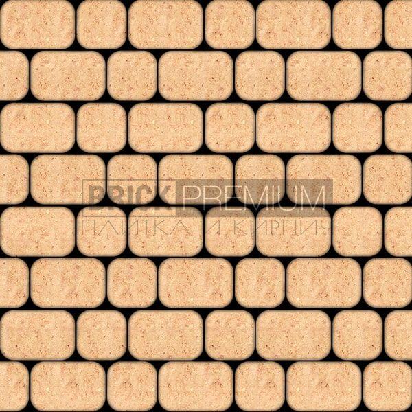 Тротуарная плитка Brick Premium Рундстоун Оранжевый 45 мм