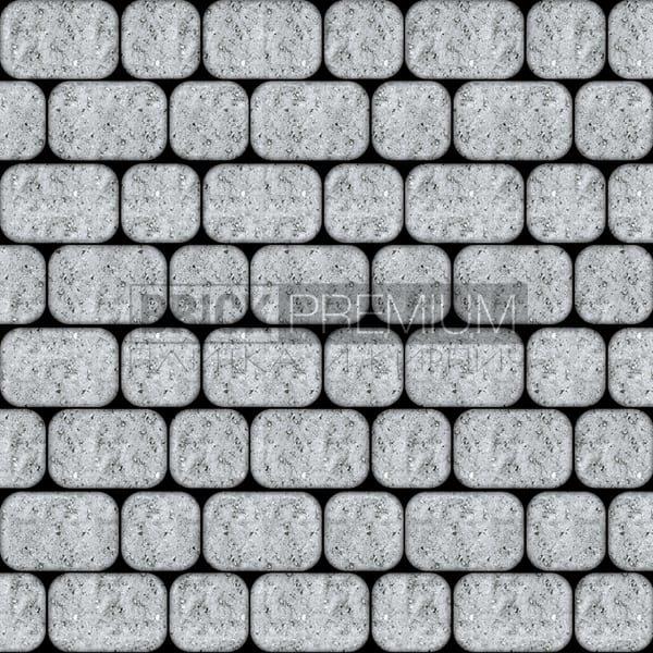 Тротуарная плитка Brick Premium Рундстоун Серый 45 мм