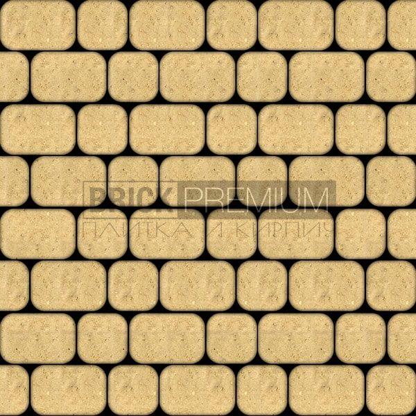 Тротуарная плитка Brick Premium Рундстоун Жёлтый 45 мм