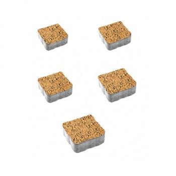 Тротуарные плиты ВЫБОР Листопад гладкий АНТИК Б.3.А.6 Сахара- комплект из 5 плит