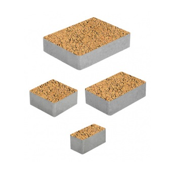 Тротуарные плиты ВЫБОР Листопад гладкий МЮНХЕН Б.2.Фсм.6 Сахара- комплект из 4 плит