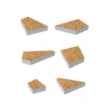 Тротуарные плиты ВЫБОР Листопад гладкий ОРИГАМИ Б.4.Фсм.8 Сахара- комплект из 6 плит