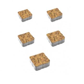 Тротуарные плиты ВЫБОР Листопад гладкий АНТИК Б.3.А.6 Саванна- комплект из 5 плит