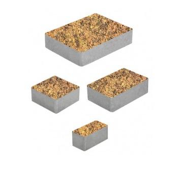 Тротуарные плиты ВЫБОР Листопад гладкий МЮНХЕН Б.2.Фсм.6 Саванна- комплект из 4 плит