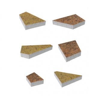 Тротуарные плиты ВЫБОР Листопад гладкий ОРИГАМИ Б.4.Фсм.8 Саванна- комплект из 6 плит