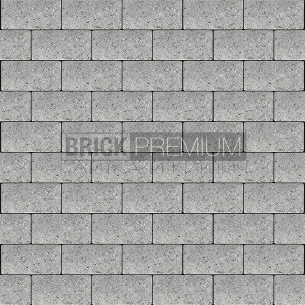 Тротуарная плитка Brick Premium Платцстоун Серый гладкая 65 мм