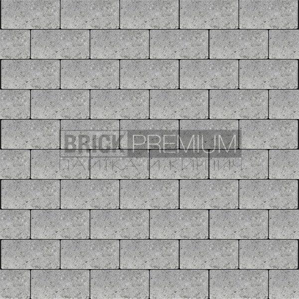 Тротуарная плитка Brick Premium Платцстоун Серый гладкая 45 мм