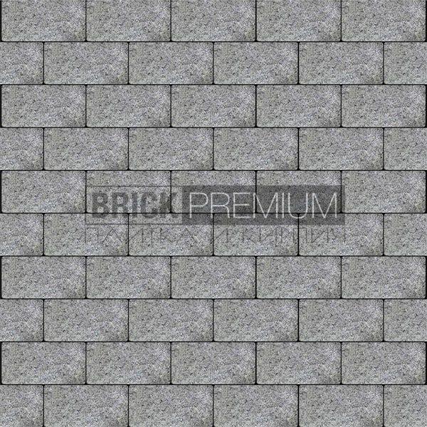 Тротуарная плитка Brick Premium Платцстоун Серый гранит 65 мм