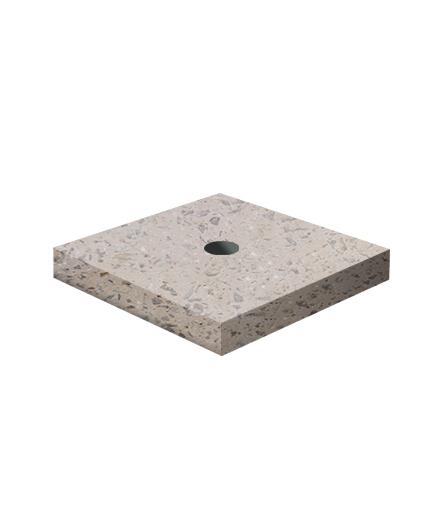 Ландшафтный элемент ВЫБОР ПОДСТАВКА-1 700*700*100 Серо-красный Мытый бетон