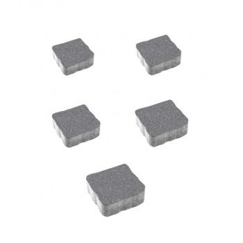 Тротуарные плиты ВЫБОР Гранит АНТИК Б.3.А.6 Серый- комплект из 5 плит