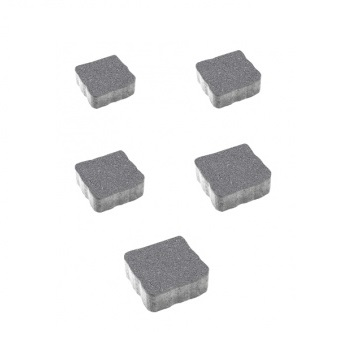Тротуарные плиты ВЫБОР Стандарт АНТИК Б.3.А.6 Серый- комплект из 5 плит