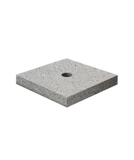 Ландшафтный элемент ВЫБОР ПОДСТАВКА-1 700*700*100 Серый Мозаичный бетон