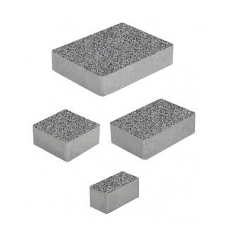 Тротуарные плиты ВЫБОР Стоунмикс МЮНХЕН Б.2.Фсм.6 Серый с черным- комплект из 4 плит