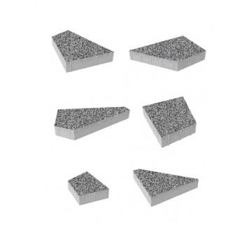 Тротуарные плиты ВЫБОР Гранит ОРИГАМИ Б.4.Фсм.8 Серый с черным- комплект из 6 плит
