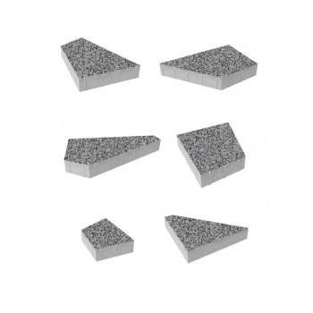 Тротуарные плиты ВЫБОР Стоунмикс ОРИГАМИ Б.4.Фсм.8 Серый с черным- комплект из 6 плит