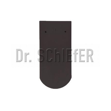 Керамическая рядовая черепица Meyer-Holsen Biber ангоб шиферно-черный