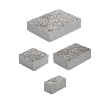 Тротуарные плиты ВЫБОР Искусственный камень МЮНХЕН Б.2.Фсм.6 Шунгит- комплект из 4 плит
