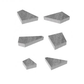Тротуарные плиты ВЫБОР Искусственный камень ОРИГАМИ Б.4.Фсм.8 Шунгит- комплект из 6 плит