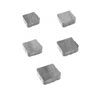 Тротуарные плиты ВЫБОР Искусственный камень АНТИК Б.3.А.6 Шунгит- комплект из 5 плит
