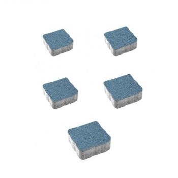 Тротуарные плиты ВЫБОР Стандарт АНТИК А.3.А.4 Синий - комплект из 5 плит