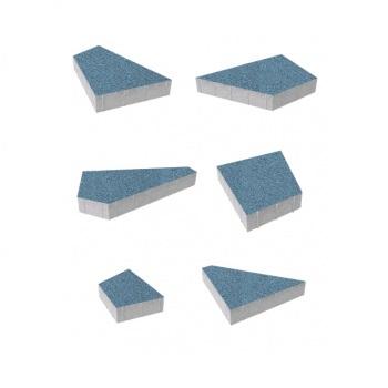 Тротуарные плиты ВЫБОР Стандарт ОРИГАМИ Б.4.Фсм.8 Синий- комплект из 6 плит