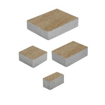 Тротуарные плиты ВЫБОР Искусственный камень МЮНХЕН Б.2.Фсм.6 Степняк- комплект из 4 плит