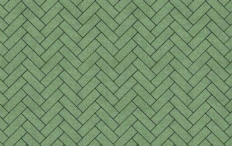 Тротуарная плитка ВЫБОР Гранит Паркет 360*80*80 мм Зелёный