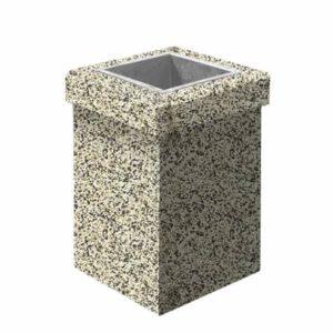 Урна бетонная ВЫБОР УРНА-1 400400600 Бело-черный Мытый бетон