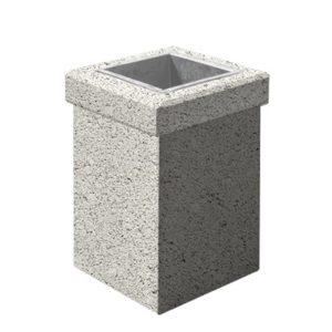 Урна бетонная ВЫБОР УРНА-1 400*400*600 Белый Гранит