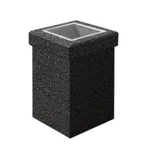 Урна бетонная ВЫБОР УРНА-1 400*400*600 Черный Мозаичный бетон