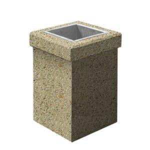 Урна бетонная ВЫБОР УРНА-1 400*400*600 Медовый Мытый бетон
