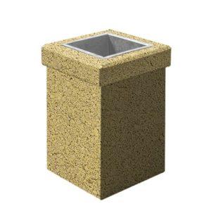 Урна бетонная ВЫБОР УРНА-1 400*400*600 С пигментом Гранит