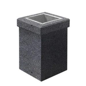 Урна бетонная ВЫБОР УРНА-1 400*400*600 Серый Мозаичный бетон