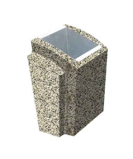 Урна бетонная ВЫБОР УРНА-2 500*410*750 Бело-черный Мытый бетон