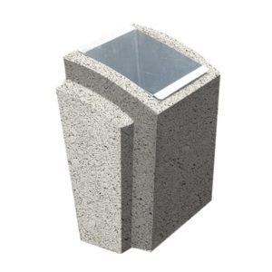 Урна бетонная ВЫБОР УРНА-2 500*410*750 Белый Гранит