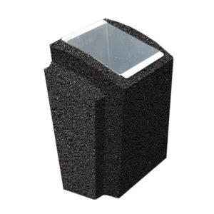 Урна бетонная ВЫБОР УРНА-2 500*410*750 Черный Мозаичный бетон