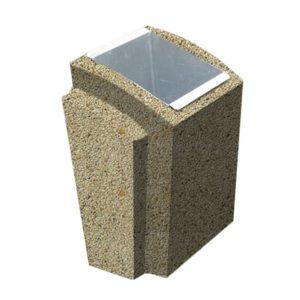 Урна бетонная ВЫБОР УРНА-2 500*410*750 Медовый Мытый бетон