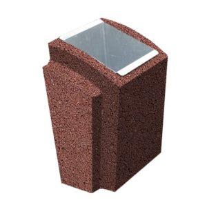 Урна бетонная ВЫБОР УРНА-2 500*410*750Серо-красный Мытый бетон