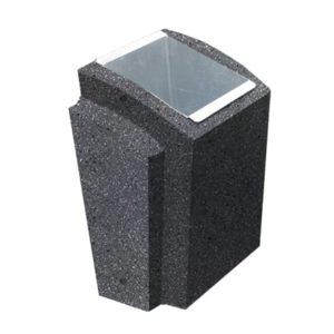 Урна бетонная ВЫБОР УРНА-2 500*410*750 Серый Мозаичный бетон