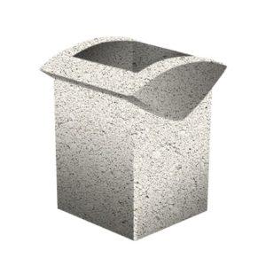 Урна бетонная ВЫБОР УРНА-3 500*460*600 Белый Гранит