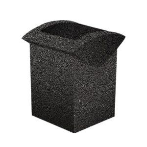 Урна бетонная ВЫБОР УРНА-3 500*460*600 Черный Мозаичный бетон