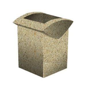 Урна бетонная ВЫБОР УРНА-3 500*460*600 Медовый Мытый бетон
