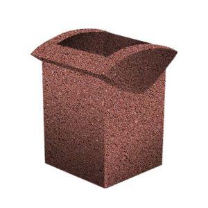 Урна бетонная ВЫБОР УРНА-3 500*460*600 Серо-красный Мытый бетон