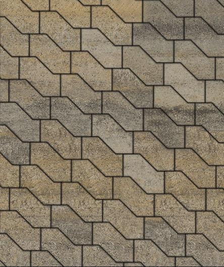 Тротуарные плиты ВЫБОР Искусственный камень S-ФОРМА В.3.Ф.10 Базальт