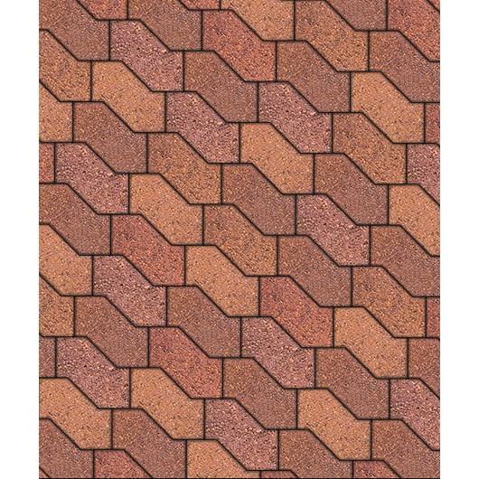 Тротуарные плиты ВЫБОР Листопад гладкий S-ФОРМА В.3.Ф.10 Барселона