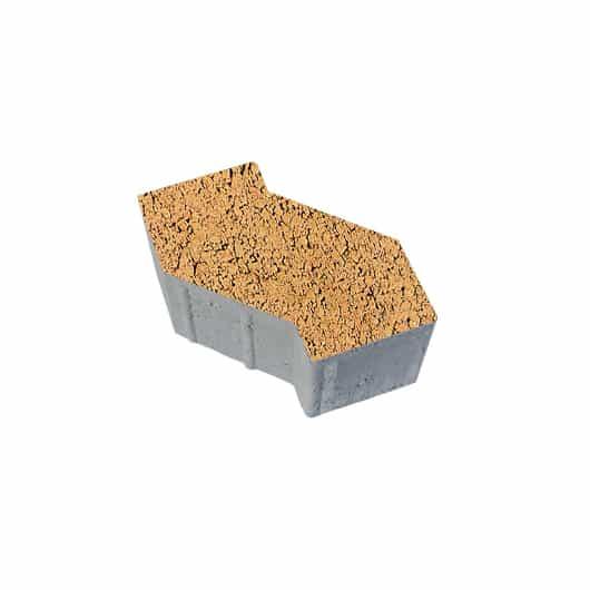 Тротуарные плиты ВЫБОР Листопад гладкий S-ФОРМА В.3.Ф.10 Сахара